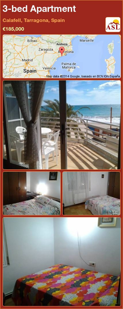 3-bed Apartment in Calafell, Tarragona, Spain ►€185,000 #PropertyForSaleInSpain