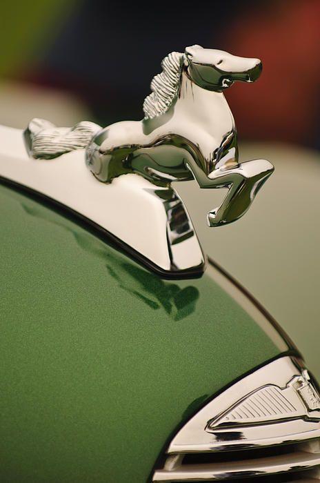 1952 Sterling Gladwin Maverick Sportster Hood Ornament - Jill Reger - Photographic prints for sale