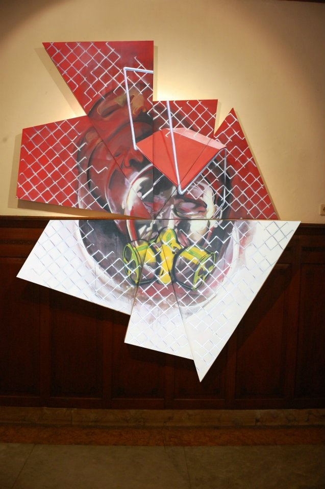 di Depan Warna Merah dan Putih #1  203,5 x 250 cm #art #artists #painting #expretion #face #urban #uniqueshape