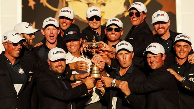 See the best images from the 2016 Ryder Cup from Hazeltine National Golf Club in Chaska, Minnesota.