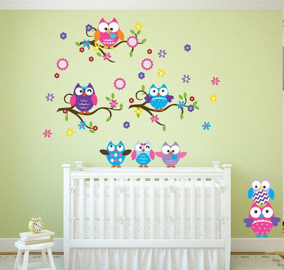 Best 25 Owl wall decals ideas on Pinterest Girl owl nursery