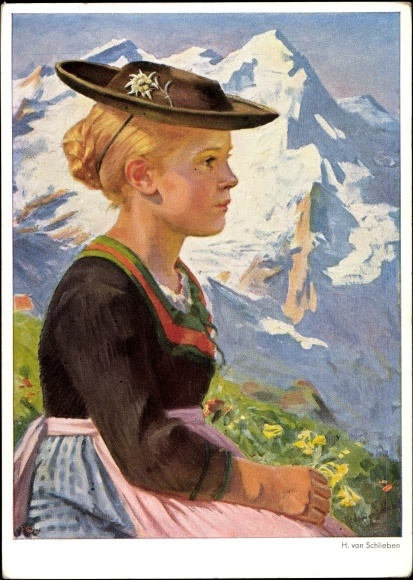 Bavarian girl....I'm delighted to see my print on your Pinterest board! This picture has been hanging in my house since my Mom passed away.