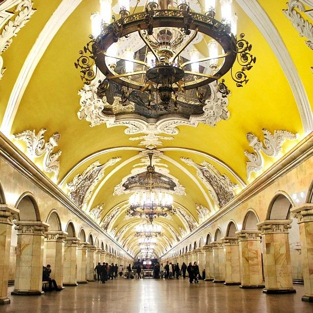 Moscow Subway  http://www.travelandtransitions.com/destinations/destination-advice/europe/travel-moscow-discover-the-red-square-st-basils-cathedral-the-kremlin-and-much-more/