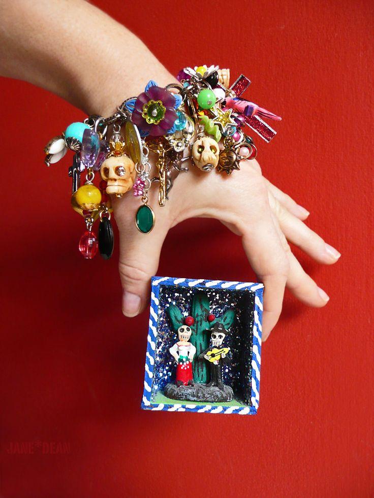 Calaveras charm bracelet