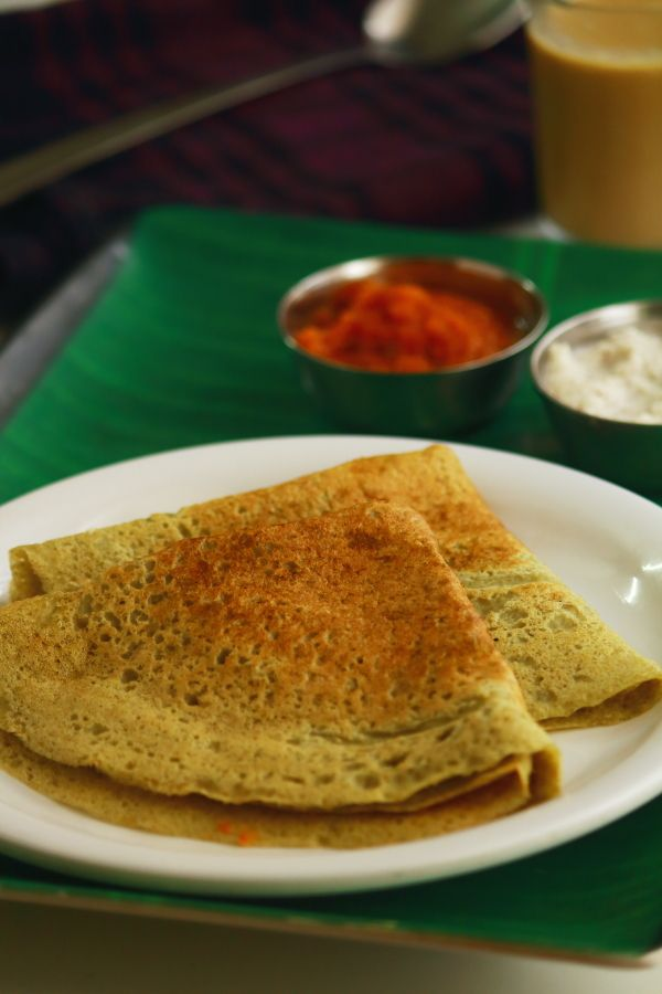 oats pesarattu dosa - Healthy, easy to make and tasty dosa recipe for breakfast made with oats, rice, moong dal, ginger, green chili, cumin seeds. Can be served with coconut chutney #indianfood #food #recipes #vegetarian #breakfast #dosa