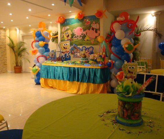 36 best buffet de dulces images on pinterest candy buffet spongebob and boxes - Decoracion bob esponja ...