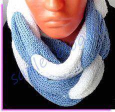 """Вязанно-плетеный шарф """"Зимнее утро"""". Описание"""