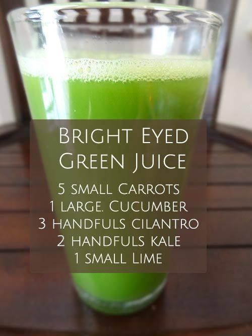 """Start your day """"Bright Eyed"""" an excellent juice for healthy eyes and vibrant skin!"""