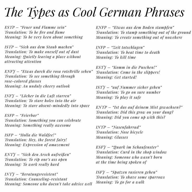 Pinned more for the funny German than the personality types