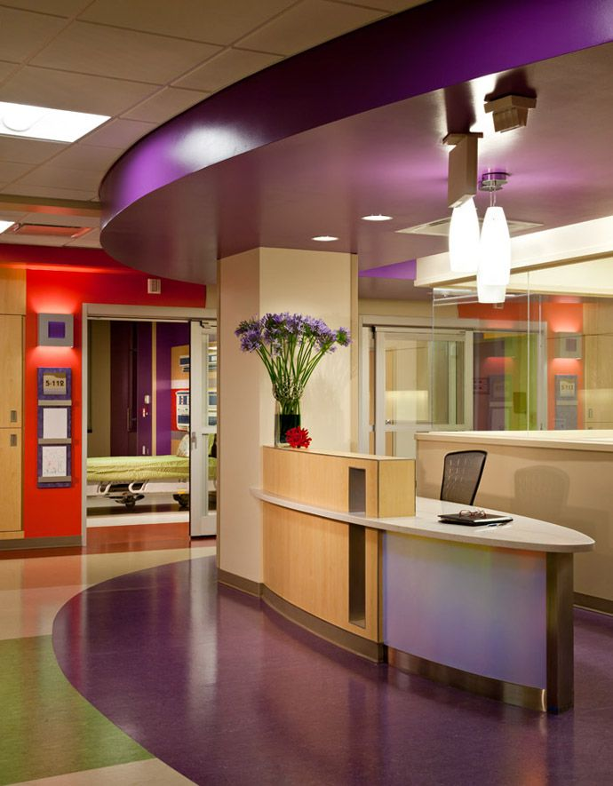 Arizona's Phoenix Children's Hospital by HKS ArchitectsInterior Design, Design Inspiration, Healthcare Design, Children Hospitals, Receptions Desks, Arizona, Phoenix Children, Reception Desks, Architecture Design