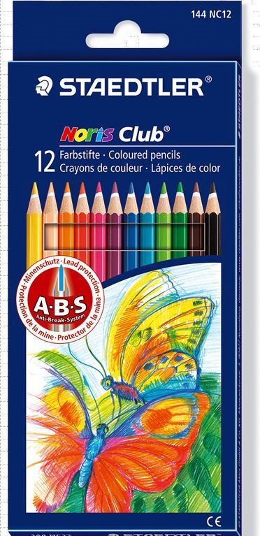 STAEDTLER Noris Club Coloured Pencils 144 NC12 12COLOR SET #STAEDTLER