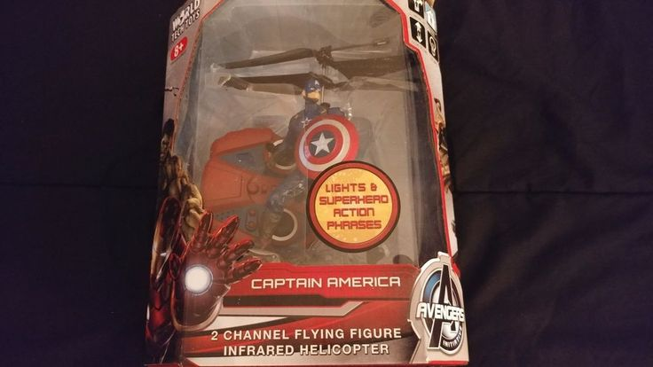 Avengers Captain America 2 Channel Flying Figure Infrared Helicopter #WorldTechToys
