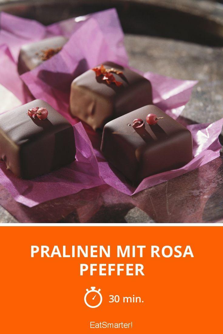 Pralinen mit rosa Pfeffer - smarter - Zeit: 30 Min. | eatsmarter.de