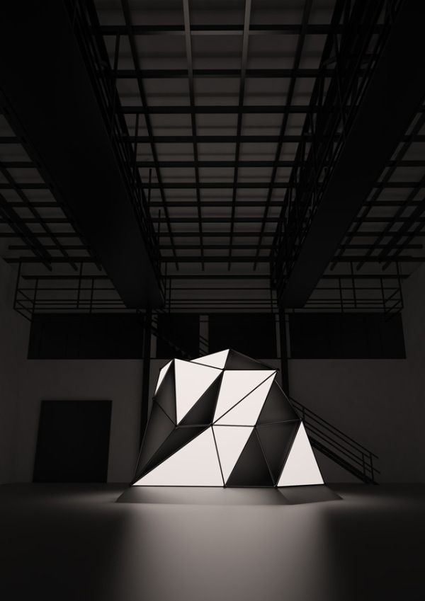 Interactive landscapes by Mathieu River #art #installation #geometric @codeplusform