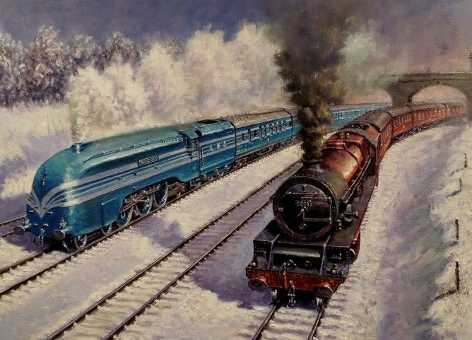 Winter on the LMS By Robert Nixon £400.00 Cont17