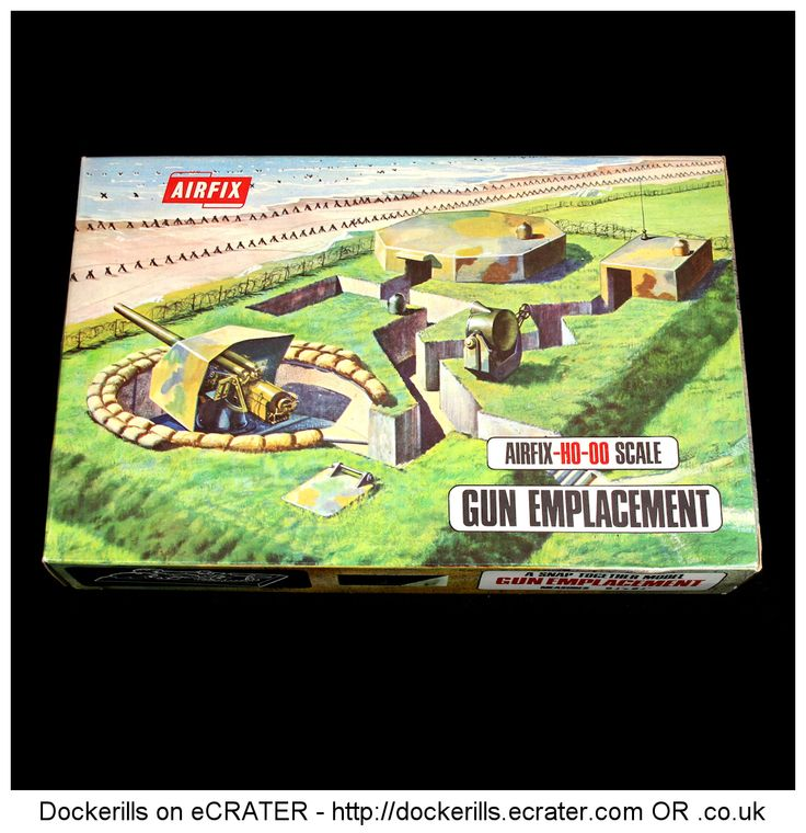 Airfix HO OO Scale Gun Emplacement.