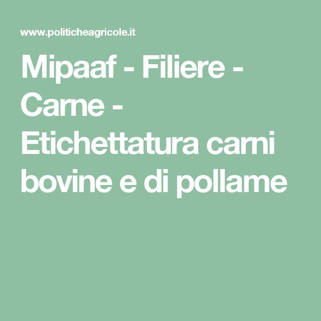 Mipaaf - Filiere - Carne - Etichettatura carni bovine e di pollame
