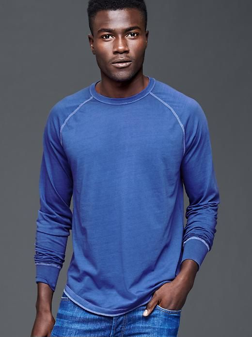 Vintage wash long sleeve t-shirt - Garment-dyed and washed with a special technique for incredible softness and true color.