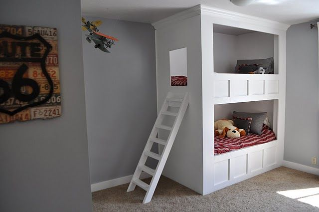LOVE this boys bed!! And Route 66 DecorBoy Bedrooms, Boys Bedrooms, Bunk Beds, Kids Room, Kidsroom, Boys Shared Bedrooms, Beds Design, Boys Room, Bunkbeds