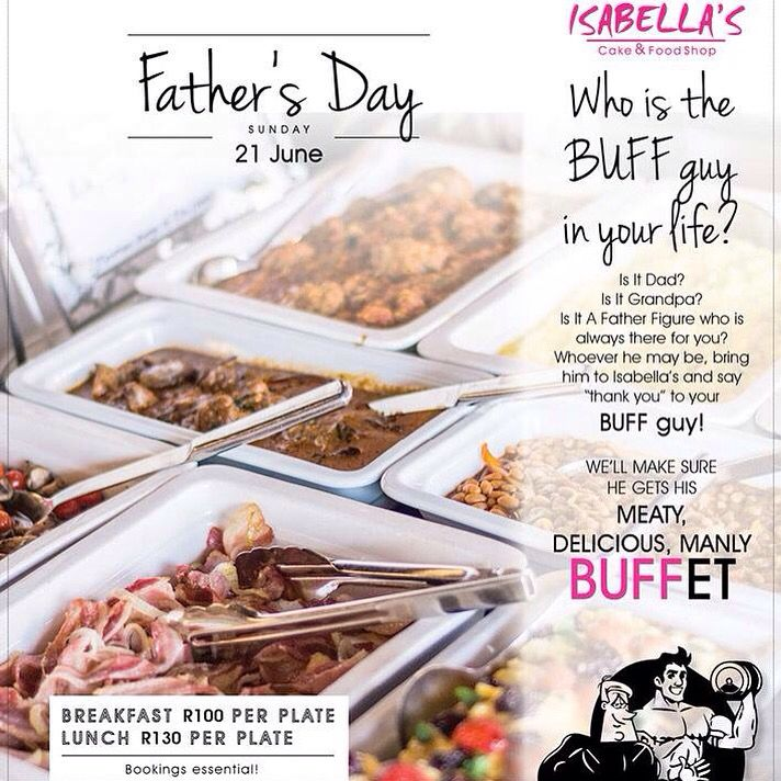 Who is your BUFF guy? Dad? Grandpa? Spoil him with a meaty, BUFFet this #fathersday! Book on isabellas.co.za