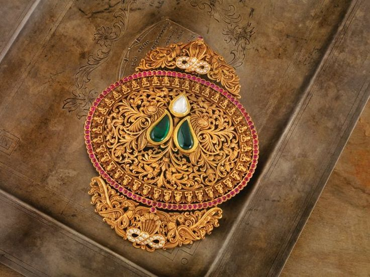 antique_gold_pendant_from_navrathan_jewellers-www.minmit.com