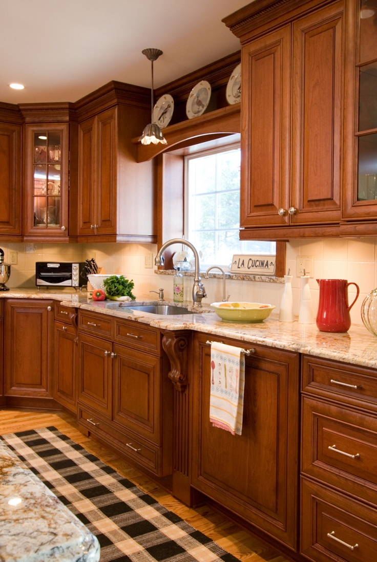 17 best images about addition ideas on pinterest double for Dark kitchen cabinets with light granite