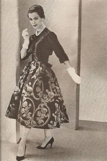 Vogue Paris Original 1350 by Patou | 1956-1957 Evening Dress and Bolero
