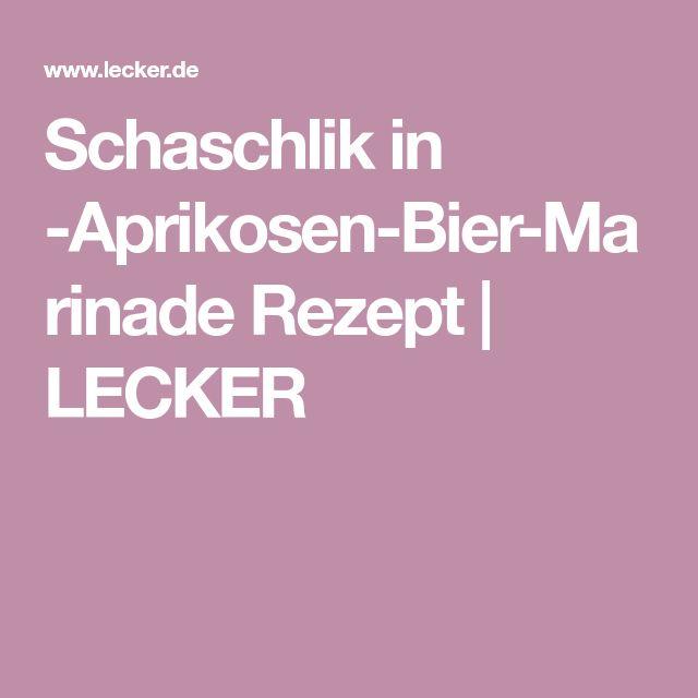 Schaschlik in Aprikosen-Bier-Marinade Rezept   LECKER