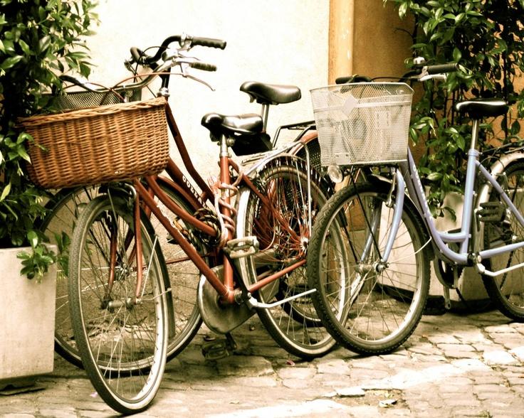 Bicycles art print on etsy