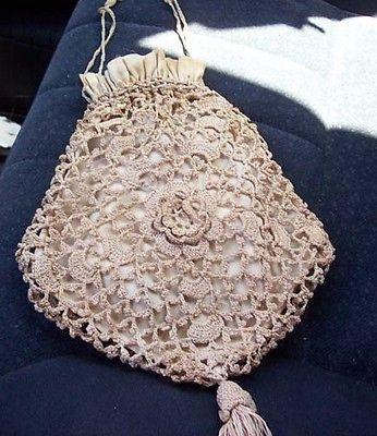 Antique 1800's Crocheted Reticule Wedding Purse: Antiques 1800 S, 1800 ...