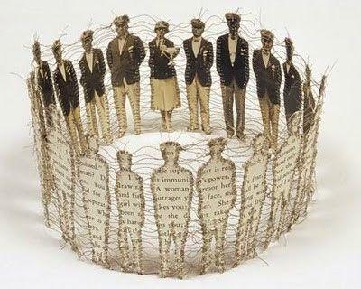art, crown, lisa kokin, paper, paper doll, paper sculpture