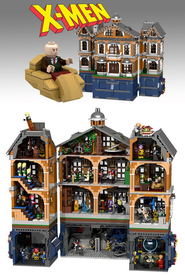 I know of 4-5 people personally who would trade a kidney for this. X-Men Mansion LEGO Build