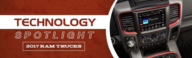 Ram Truck's are known for their brute strength, but they're more than just that. Take a look at the incredible technology that makes up the 2017 Ram Truck lineup.