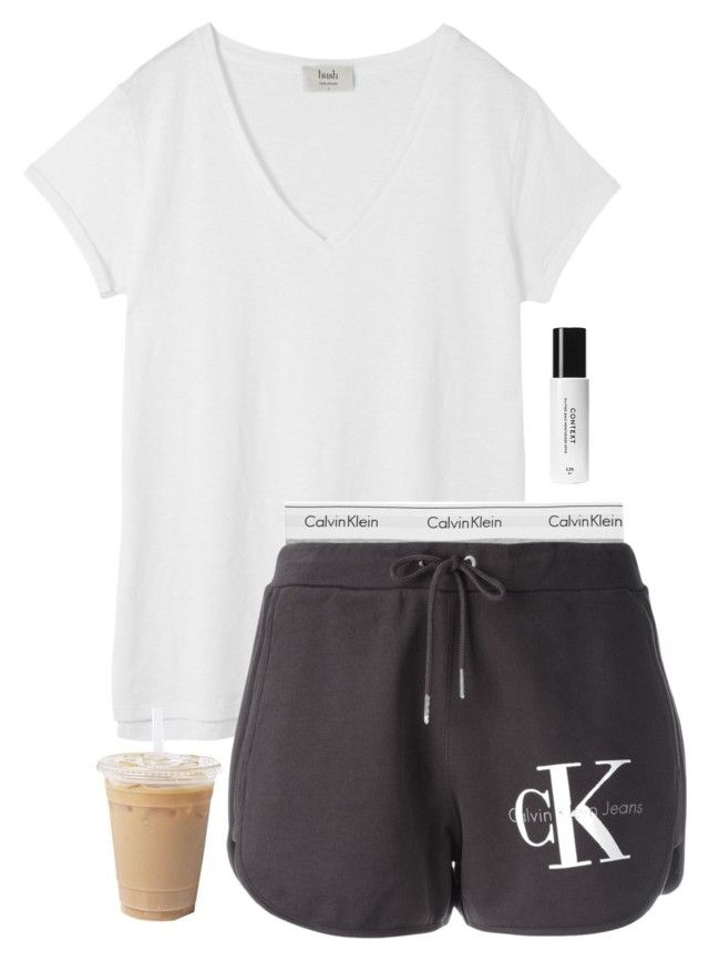 """""""Idk if I should get these shorts or not"""" by aweaver-2 ❤ liked on Polyvore featuring Hush, Calvin Klein Underwear, Calvin Klein Jeans and Context"""