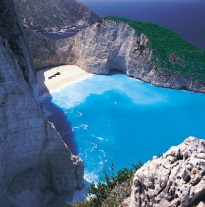 Zante, the place now known as Smuggler's Cove, but the island was a British protectorate when Cordelia and Iain visit it, and I'm using my own memories of Cyprus to help with the ambiance