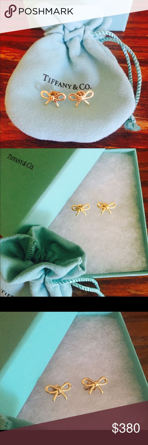 Authentic Tiffany Bow Earrings 18K Yellow Gold Tiffany Bow Earrings. The cutest earrings ever! Absolutely my favorite! Worn very gently! You will love them forever!:) very sweet and elegant earrings!:) Tiffany & Co. Jewelry Earrings