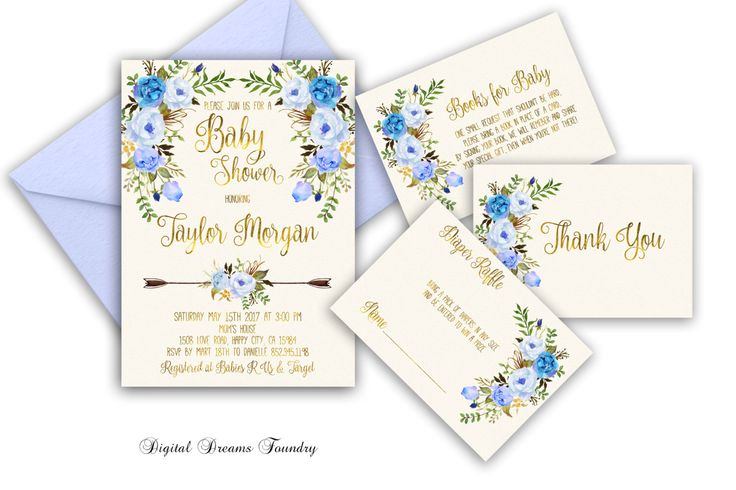 Floral Baby Boy Shower Invitation Printable Boho Baby Shower Invite Blue Baby Invitation Bohemian Baby Invitation Blue Floral Baby Invite by DigitalDreamsFoundry on Etsy https://www.etsy.com/listing/480039687/floral-baby-boy-shower-invitation