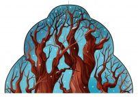 Зимнее дерево. Картинка в уголок природы