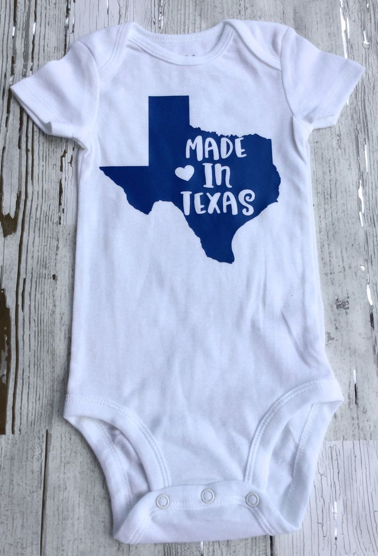 Made in Texas Baby Onesie Size 3-6 Months by sunnyvilledesigns on Etsy https://www.etsy.com/listing/534753397/made-in-texas-baby-onesie-size-3-6
