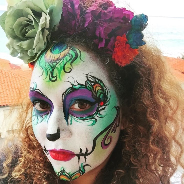 I love this face painting job and how it makes the girl