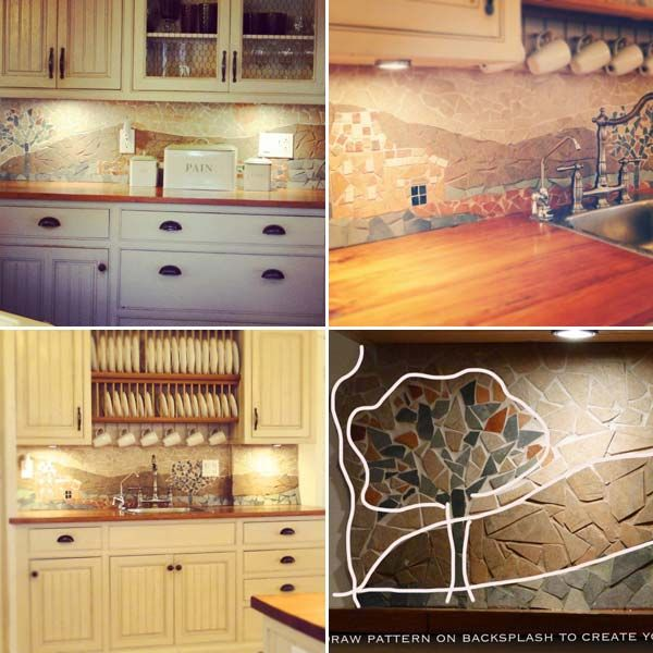 24 Cheap DIY Kitchen Backsplash Ideas and Tutorials You Should See