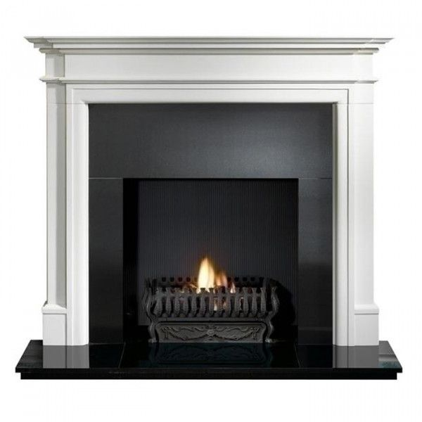 Gallery Bartello Limestone Fireplace With Optional Valencia Fire