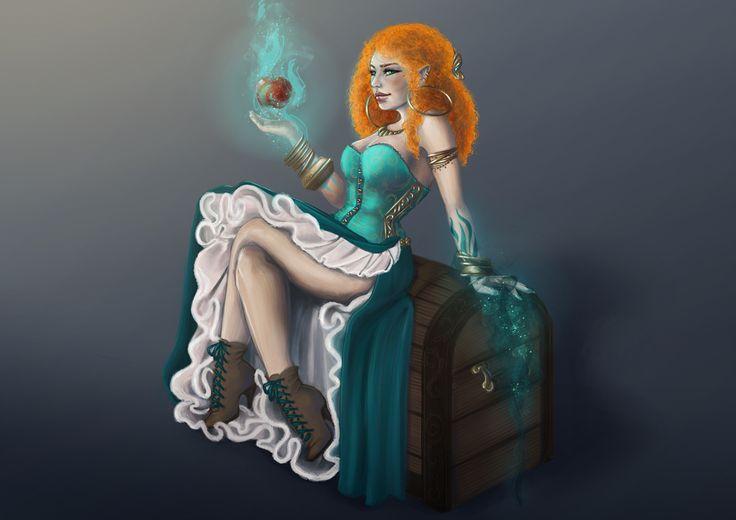 Witch by Odrobinka.deviantart.com on @DeviantArt