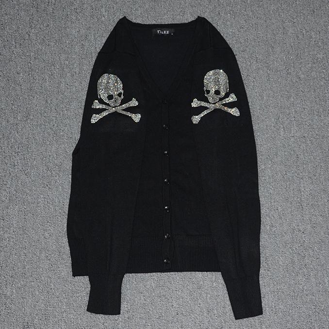 Dark Gothic Skull Cardigan