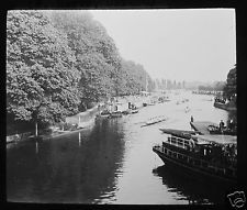 Glass Magic Lantern Slide  OXFORD EIGHTS DATED 1923 OXFORDSHIRE BOAT RACE