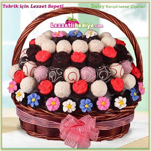 Tebrik için bugün müşterimize giden http://www.lezzetlihediye.com/lezzet-cicekleri/karisik-lezzet-cicekleri/daisy-dogum-gunu-hediyesi ile işyerinde herkesin kendine olan ilgisini paylaşmış. Paylaştıkça çoğalan sevgiler için Daisy:)