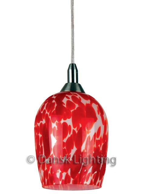 Murano RED Hand made Art Glass Pendant Light Modern