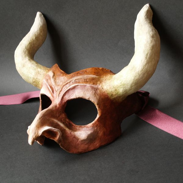Best 25 paper mache mask ideas on pinterest paper mache - Masque papier mache ...