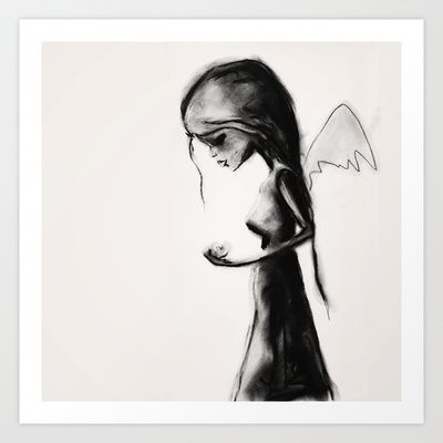 Angel Art Print by SannArt - $19.76