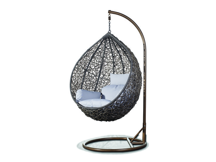 REPOS Hanging Chair in Grey  l  Newell Furniture